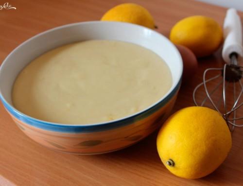 Crema pasticcera al limone senza lattosio