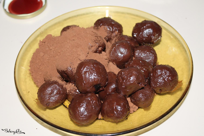 Tartufi al cioccolato e amarena
