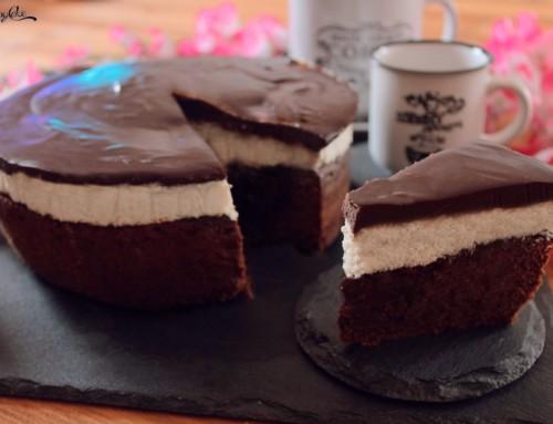 Torta cremosa cocco e cioccolato