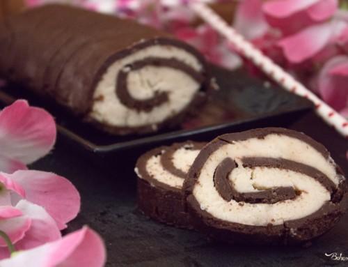 Rotolo senza cottura cocco e cioccolato