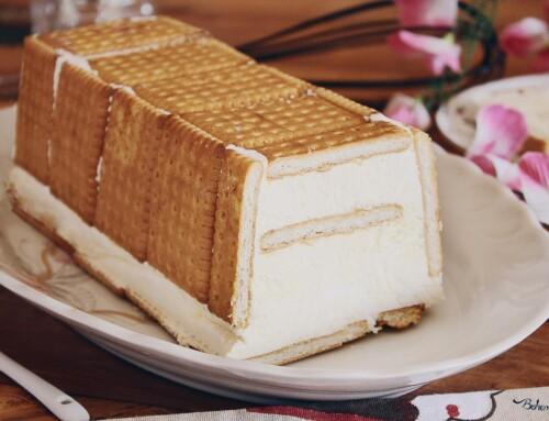 Torta gelato alla vaniglia